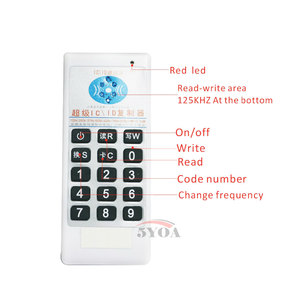 Image 2 - 5YOA Handheld 125 Khz 13.56 MHZ frequentie toegang RFID ID IC Card Duplicator Reader Schrijven Copier + 5 stks 125 KHZ EM4305 tags