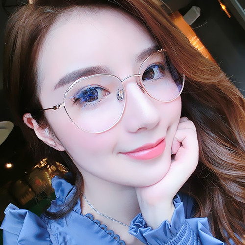 TF4089 Classical Metal Frame Round glasses for women Vintage Clear Lens Glasses radiation eye protection