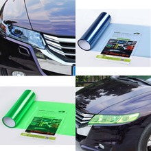 size 30*200cm 13 Colors  Headlight protection Sticker Colored Vinyl Film Sheet Car styling