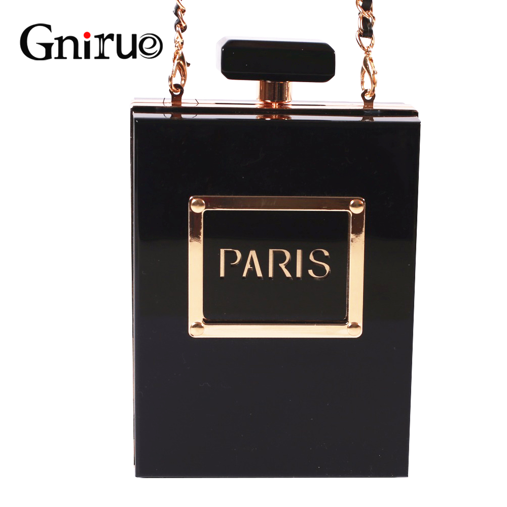 Fashion Delicate Small Perfume Bottle Women Acrylic Day Clutch Bags Female Multicolor Chain Shoulder Crossboby Bags Pruses