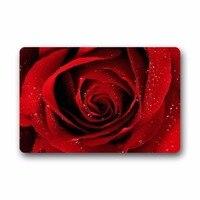 Mode Décoratif Porte Tapis Tapis Rouge Rose Avec Raindrop Fleur Floral Motif Intérieur/Extérieur/Tapis De Sol Paillasson 23.6