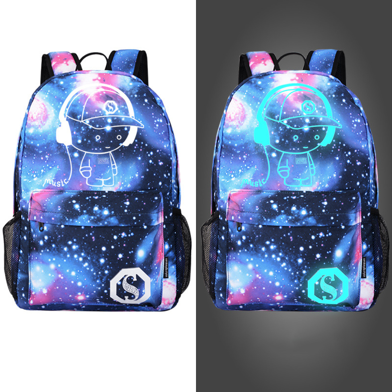 Fashion Canvas School Backpack Men Women Laptop Mochila Printing Luminous School Bags For Teenagers Back Pack Men Zipper Brand fashion free shipping just hype pattern back to school backpack mochila batoh plecak