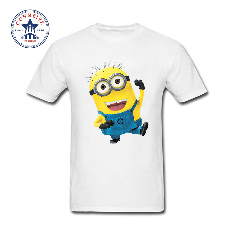 2017 Hipster Basic Tops Funny despicable minions Cotton T Shirt for men