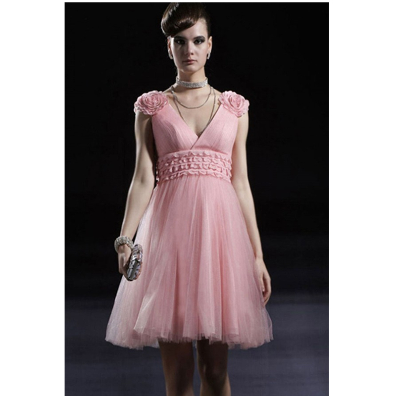 Big Pink Wedding Dresses: 2015 New Arrival Pink Bridesmaid Dresses With Big Flowers