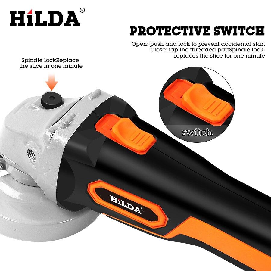HILDA 21 V Winkel Grinder Cordless Lithium-ionen Schleifen maschine Bürstenlosen Cordless Elektrische grinder Winkel Power Tools