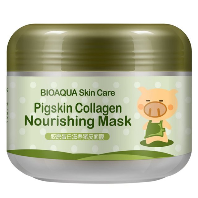 2018 Kore Kollajen Domuz Cilt Yüz Maskesi Anti aging krem Kırışıklık Karşıtı Sihirli Yüz Maskesi Yaşlanmayan Ürünleri Kozmetik 100g yr23