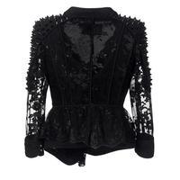 Autumn lace COAT Fashion Black Gothic punk Women Jacket Loose Floral Embroidery Girls Vintage Coats Cute Female Jackets 2018