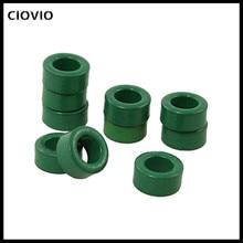 цена на CIOVIO 50 Pcs Inductor Coils Green Toroid Ferrite Cores 10mm x 6mm x 5mm
