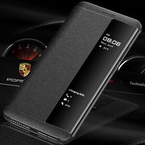 Image 2 - Роскошный чехол из натуральной кожи для Huawei Mate RS, умный флип чехол с окошком для экрана, дизайнерский чехол для Huawei Mate RS Porsche