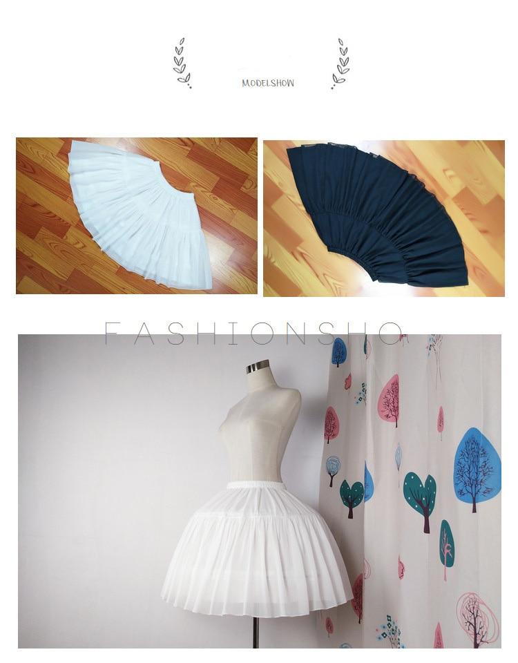 Top SaleLolita Petticoat Short-Dress Underskirt Crinoline Ballet-Rockabilly Chiffon Ball-Gown