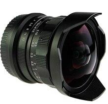8mm f2.8 ultra gran angular de lente de ojo de pez para sony nex e-mount a6000 a7 a6300/macro 4/3 m4/3 gh4 bmpcc/fuji fx dslr cámara