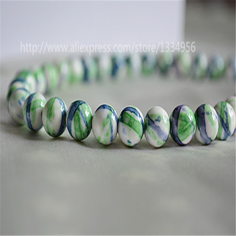 New 1 Strand 8mm loose beads Charm Natural Stone Beads Dark Blue and Light Green DIY Jewellry Accessaries For Bracelet Necklace