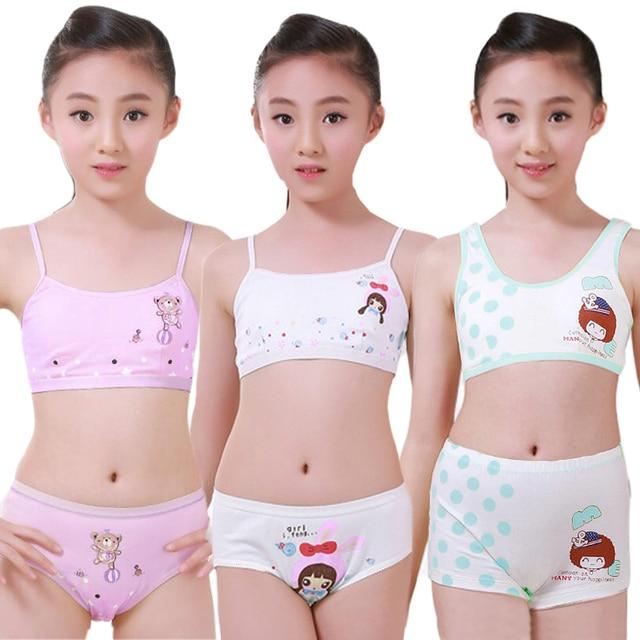 45e245aab Conjunto de ropa interior para niñas adolescentes Conjunto de sujetador de  entrenamiento camisola chaleco y bragas