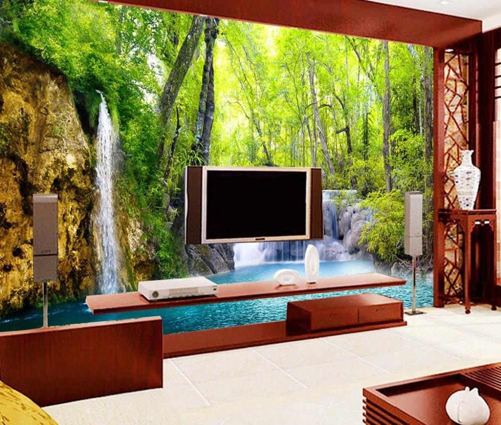 Personalizzato moderna carta da parati 3d stereoscopico for Carta da parati moderna per soggiorno