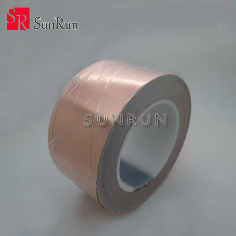 Free Shipping 60MM X 30M Conductive Copper Foil Tape Copper Strip,High Temperature Resistant Tape free shipping 12mm thickness 60mm od 36 teeth brass water pump impeller copper tone