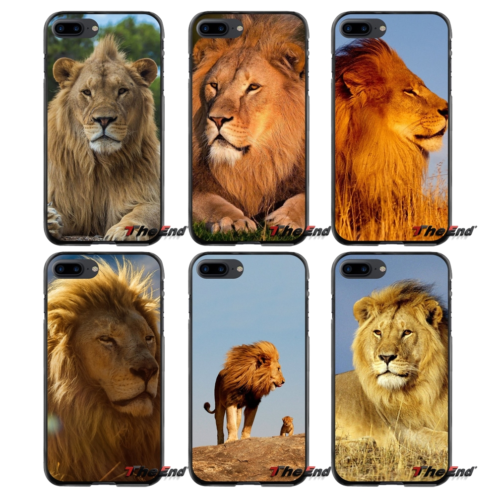 Accessories Phone Cases Covers For Apple iPhone 4 4S 5 5S 5C SE 6 6S 7 8 Plus X iPod Touch 4 5 6 Lion Animal