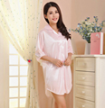 Brand New Pink Ladies' Rayon Robe Nightgown Women's Sexy Sleepshirt Bath Gown Summer New Lounge Nightwear Size S M L XL BR152