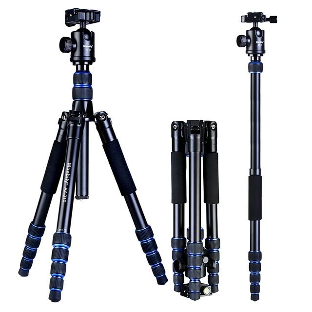 Manbily AZ 310 ترايبود الرقمية SLR كاميرا حامل مايكرو واحدة المحمولة السفر Monopod لنيكون كانون