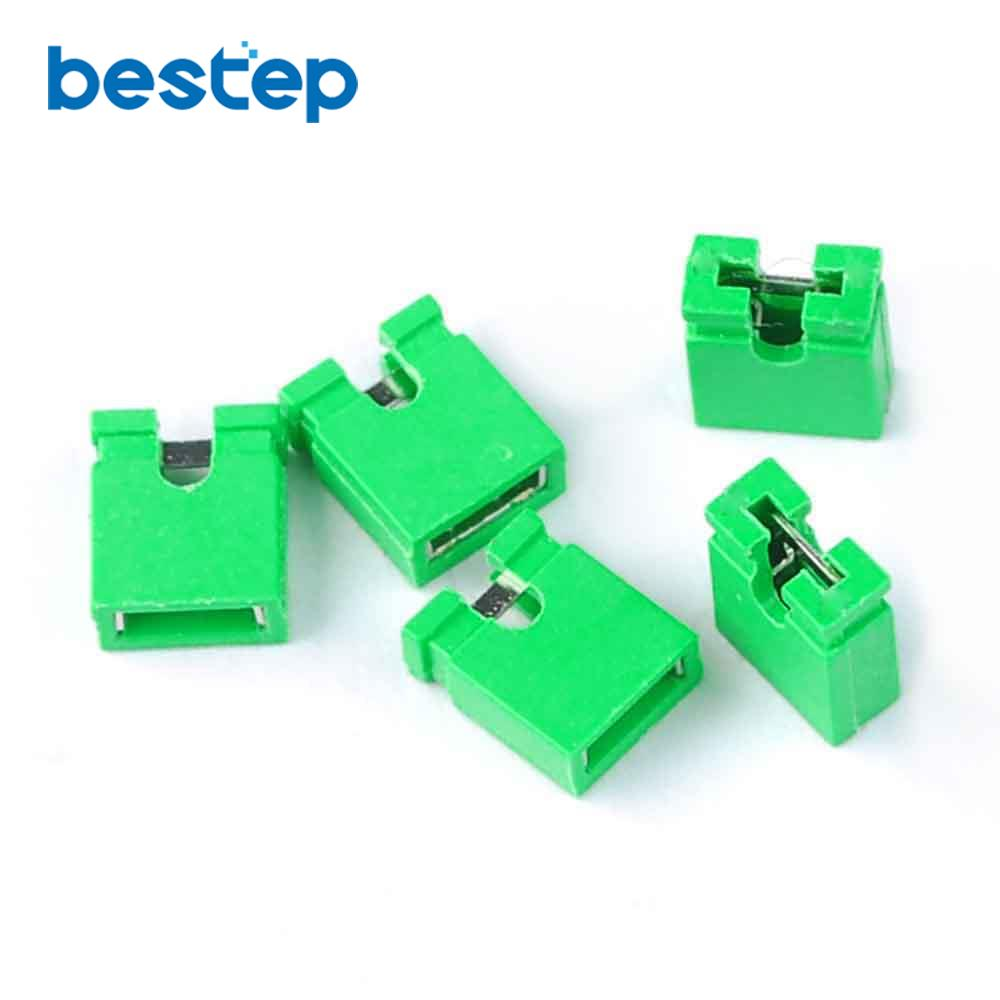 Electronic Components & Supplies 2000pcs 2.54mm Standard Circuit Board Jumper Cap Shunts Green Short Circuit Cap A Plastic Case Is Compartmentalized For Safe Storage