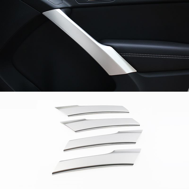 ABS Chrome For Tiguan 2009 to 2015 Car handrail Armrest Decoration Strip cover trim auto accessories styling
