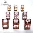 30fa 100pcs/Bag Cube Loose Beads in Jewelry Making Multi-color Free Shipping 4mm 6mm 8mm Crystal Beads Faceted Square Shape