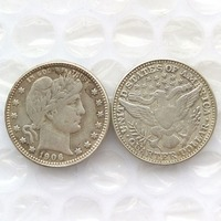 90 Silver 1906 Barber Quarter Dollars Retail Wholesale USA Copy Coins
