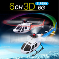 Original Wltoys WL V931 6CH 6 ejes y 3 ejes GYRO modo Dual 3D 2.4 G RC de Control remoto helicóptero eléctrico como AS350 escala
