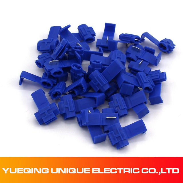 Cable Splice and Feed Connectors 50x Blue Snap-Lock ScotchLok Electrical Wire