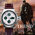 Relógio dos homens de luxo da marca NORTE Cronógrafo Esportes Relógio LED Militar relógio de quartzo de couro dos homens relógio de pulso Relogio masculino
