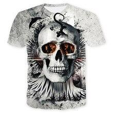 dbc68913fe361 Kısa Kollu T-shirt Erkekler Tete De Mort Homme De Marque 2018 Yaz Slim Fit  20 çeşit Kafatası Desen Tee gömlek