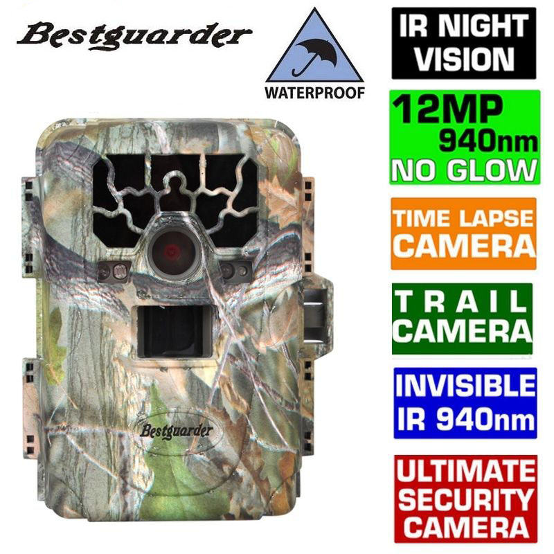 New 12mp Infrared Hunting Camera Night Vision 0.6-0.8S Trigger 36 IR LEDs IR Scouting Trail Cameras trap IP66 Waterproof 2016 new qlm 940n 12mp 940nm night vision wildgame trial camera hunting cameras with 8gb sd card free shipping