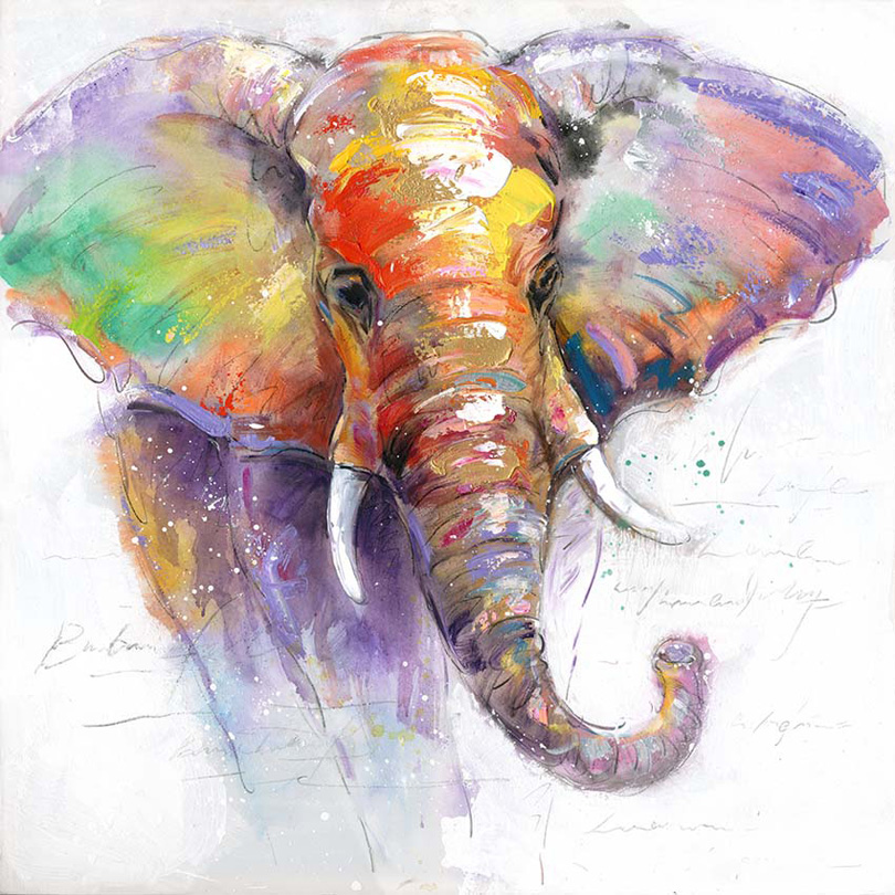 Thailand Elephant Animal Living Room Canvas Painting Wall ...