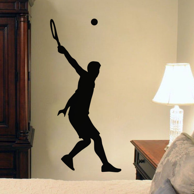 Tennis Serve Wall Stickers Sport Vinyl Decals Wall Decoration ...