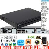 Dahua mutil language version NVR4208 8P 4KS2 H.265 4K NVR with 2SATA 8POE ports 4K H.265 dahua NVR DHI NVR4208 8P 4KS2 NVR