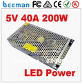 Leeman P10 single switching power supply 5V 40A 100~120V/200~240V AC input LED power supply 200W P10 led display module signs