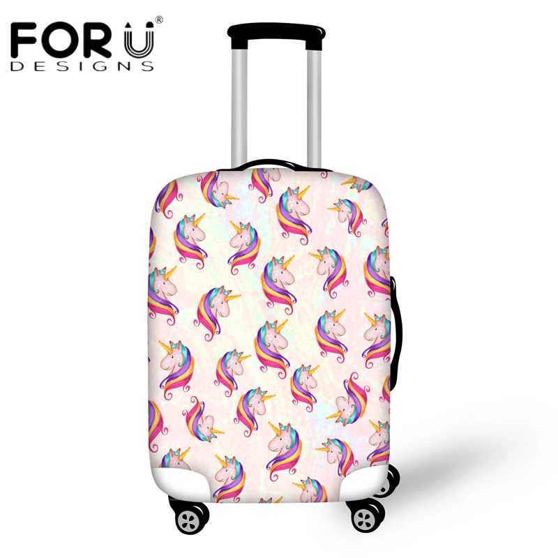 Forudesigns Funny 3d Unicorn Print Luggage Protective