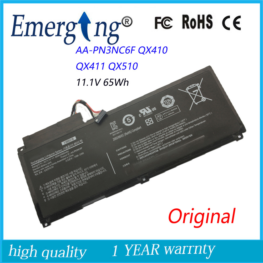 New Original Laptop Battery for Samsung QX410 QX411 QX510 NP-SF310 NP-SF410 AA-PN3NC6F QX410-J01 PN3NC6F for samsung qx410 qx411 laptop keyboard with c shell