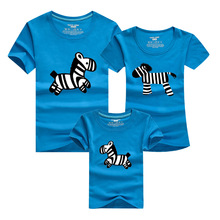 Mother Kids 2016 Men Funny T Shirt Zebra Cartoon Sport T-shirt Homme Skate Anime Tshirt Harajuku Polera Family Matching Clothes