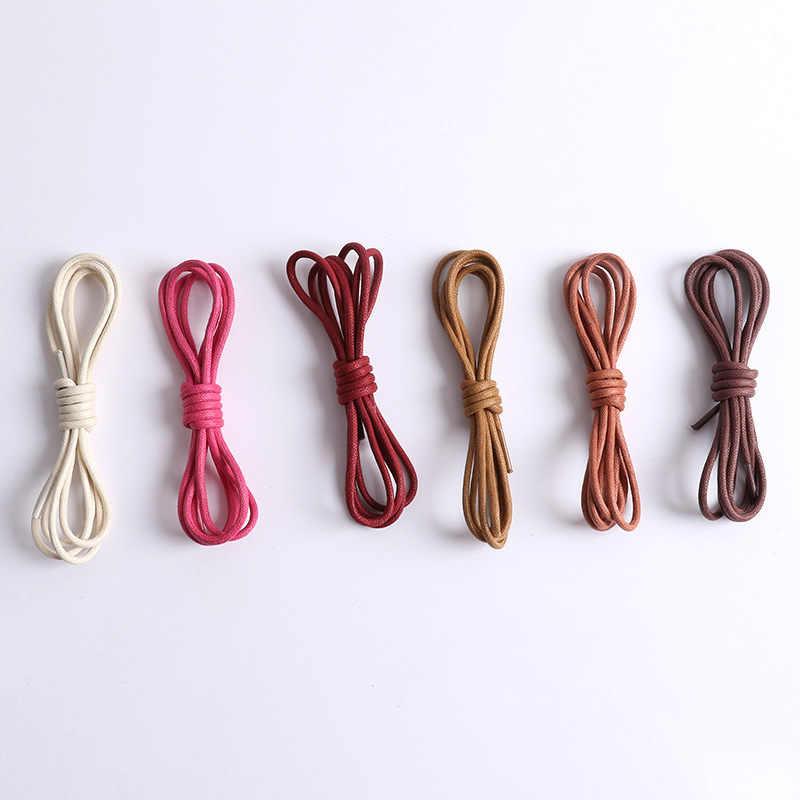 80-160 cm Yuvarlak Mumlu Renkli Ayakabı Elastik deri ayakkabı Dizeleri Önyükleme Spor Ayakkabı Danteller Kord Rahat spor ayakkabı Dize