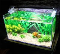 Mr.Tank 13pcs/set Aquarium Plants Package Plastic Artificial Aquatic Fish Tank Landscape Decorations Simulation Water Plants Set