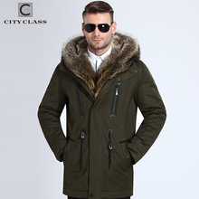 City Class Pelz Winter Jacken Herren Super Warm Parkas Kamel Haare Füllung mit Waschbären Kapuze große pelz winter mantel verdicken parka 839