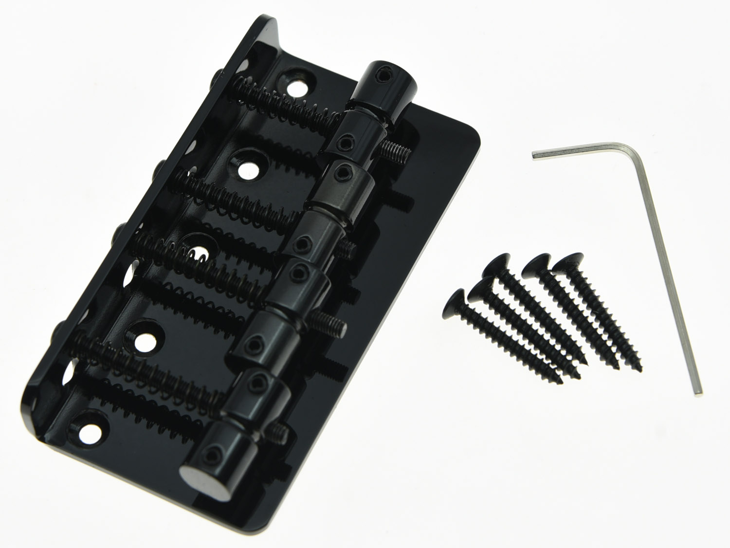 KAISH Black 4 String Vintage Electric Bass Bridge kaish black p90 high power sound neck
