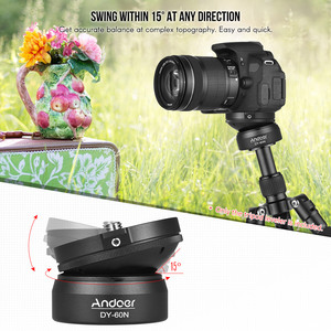 Image 5 - Andoer Tripod Head DY 60N Tripod Leveling Base Leveler Adjusting Plate for Canon Nikon Sony DSLR Camera