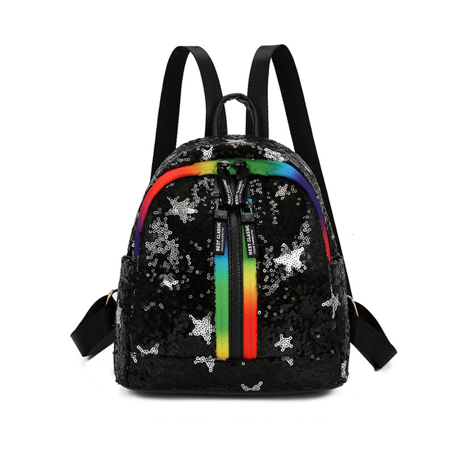 Luggage & Bags Trend Gradient Color Sequins Rabbit Ears Womens Casual Backpack Travel Mini Shoulder Bag Mochila Feminina School Bag For Women Women's Bags
