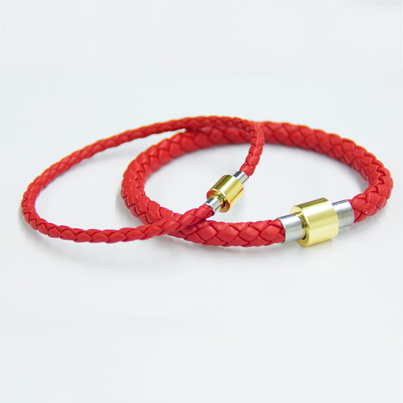 Us 1 59 30 Off Red Black Coffee Simple Style Braided Leather Bracelet Men Women Jewelry Diy Make Your Own Design In Chain Link