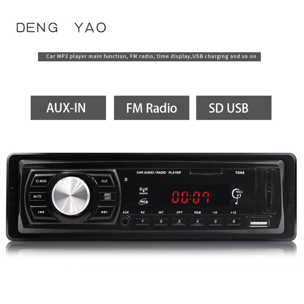 Deng yao Car Stereo Audio In Dash FM MP3 Radio Player with AUX IN SD USB DC 12V USB MP3 MMC WMA Car Radio Player