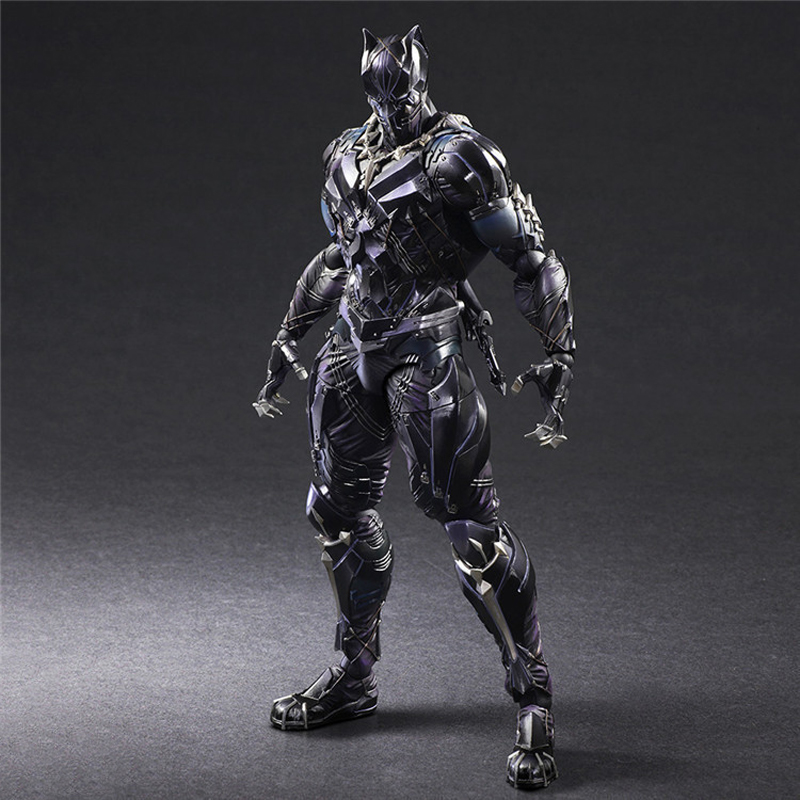 PLAY ARTS 27cm Marvel Avengers Black Panther Super Hero Action Figure Model Toy super hero ant man black panther movable action