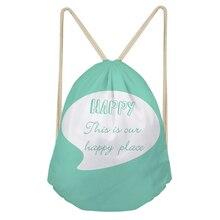 Noisydesigns Beach Bags Faye Bag 3D Printed Colorful Drawstring Bag Backpack School Shopper Bag Mochila Infantil Travel Gift