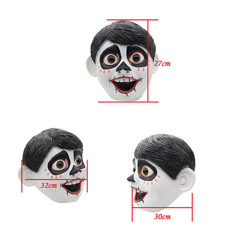 newest Realistic Funny Movie Anime CoCo Miguel Cosplay Full Head Latex Mask Fancy Ball Helmet Costume Props Masks 5