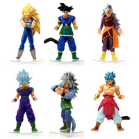 6pcs Set Dragon Ball Z Action Figures Vegeta Gohan Goku Broly 15cm PVC Action Figure Collectible